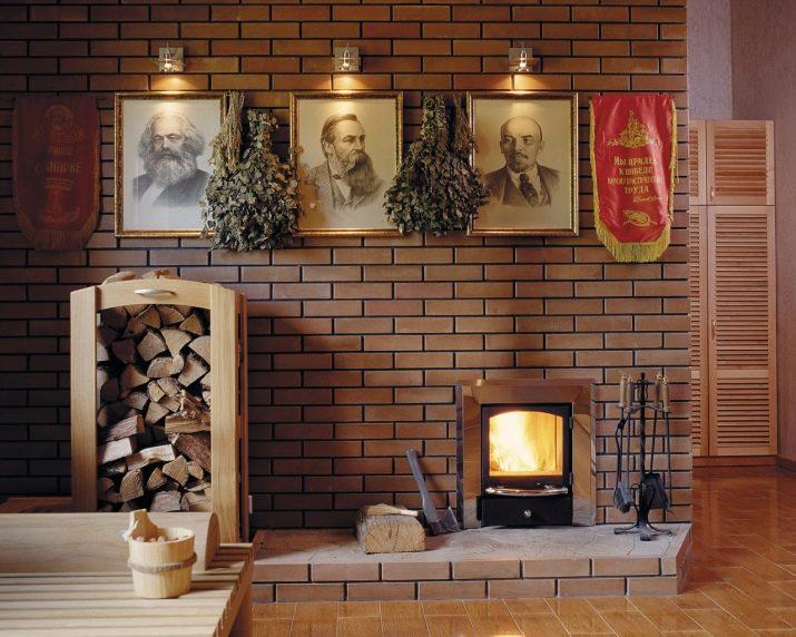 Дровяные камины из кирпича для дома