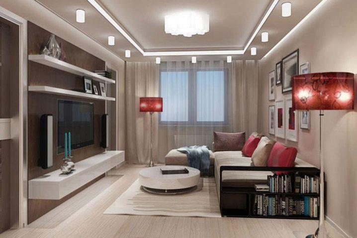 Интерьер гостиной в «хрущевке»: стильное оформление помещения