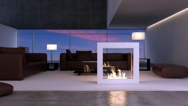Камин в квартире без дымохода