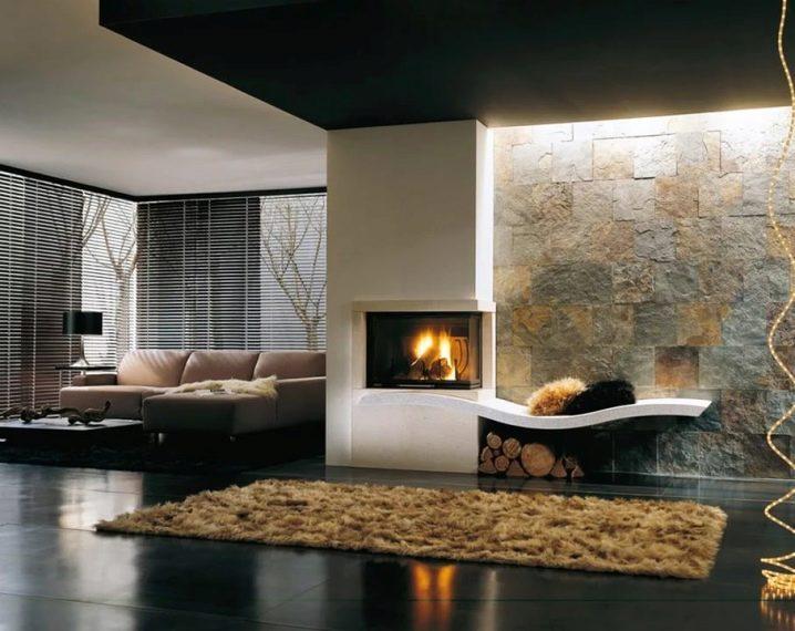 Камин в различных стилевых интерьерах