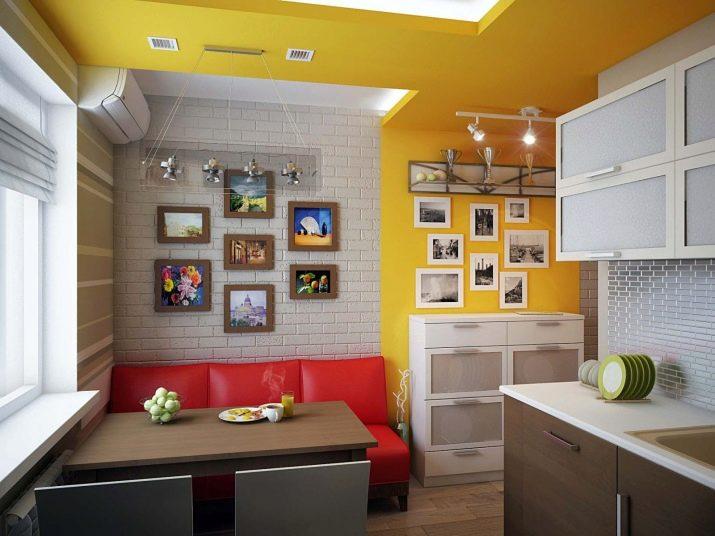 Кухня площадью 10 кв. метров с диваном