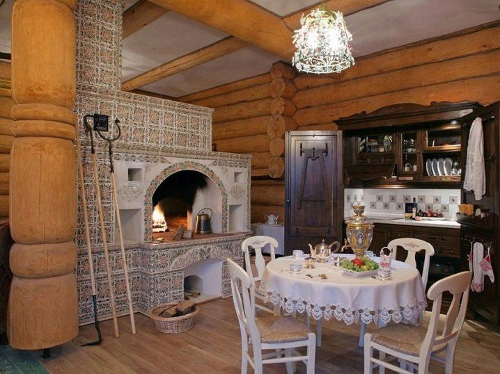 Печь русская с камином