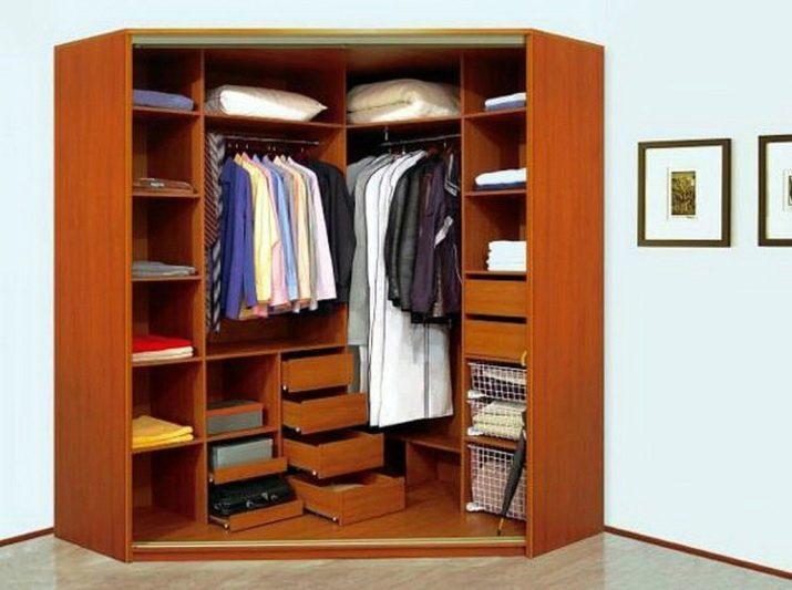 Угловой шкаф в гардеробной