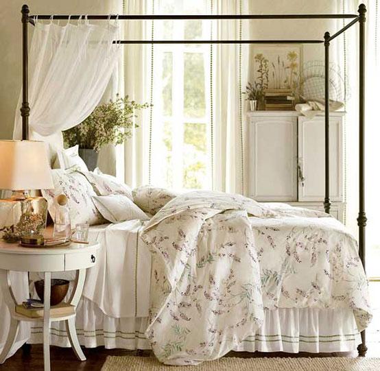 спальные комнаты в стиле прованс фото