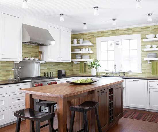 Кухня и фисташковый цвет