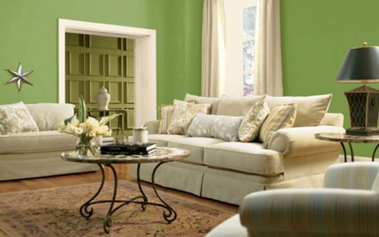 фисташковый цвет в гостинной
