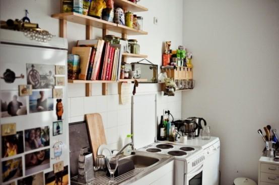 дизайн проект узкой кухни