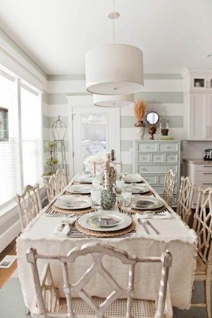 кухонный стол в стиле шебби шик