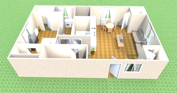 3-D модель дома