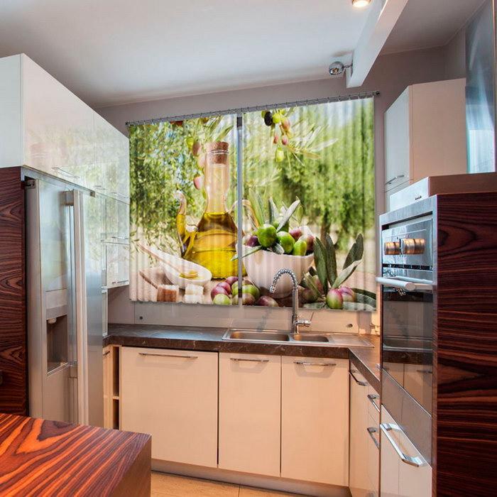 зд шторы на кухне