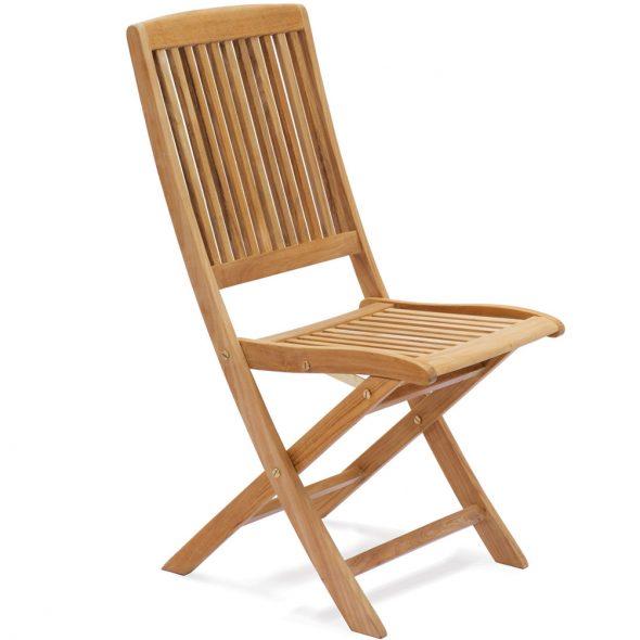 Деревянный стул без подлокотника складной