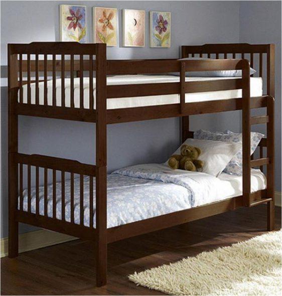 Детская двухъярусная кровать деревянная