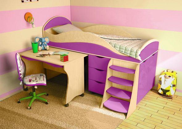 Детская кровать-чердак Караван-4М