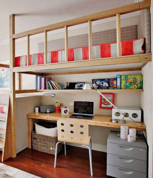 кровать чердак с письменным столом