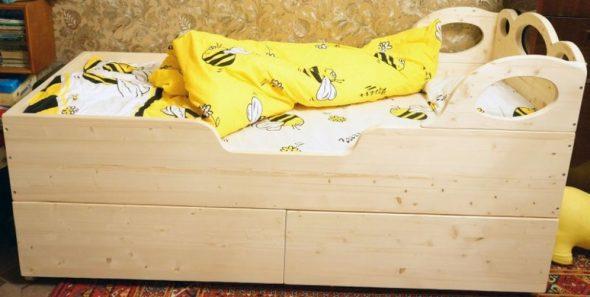 Детская кровать своими руками из дерева