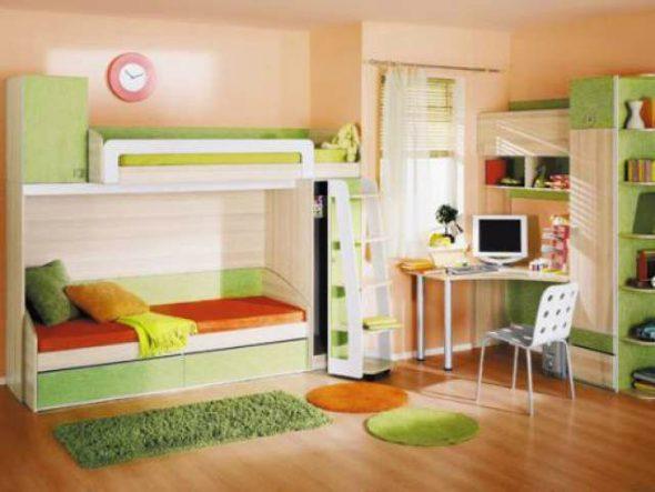 Детская мебель кровать только со вторым этажом со шкафом
