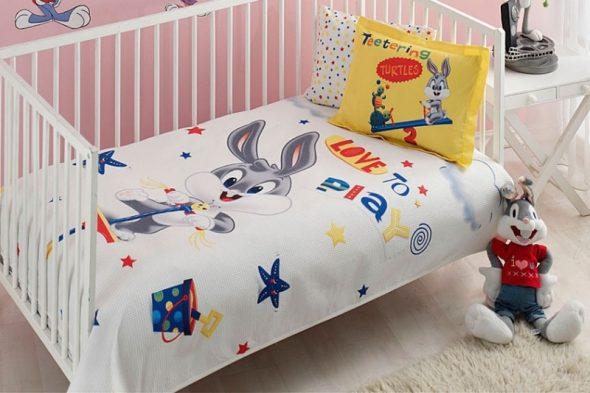 Детское покрывало TAC Bebek Bugs Bunny Play Baby
