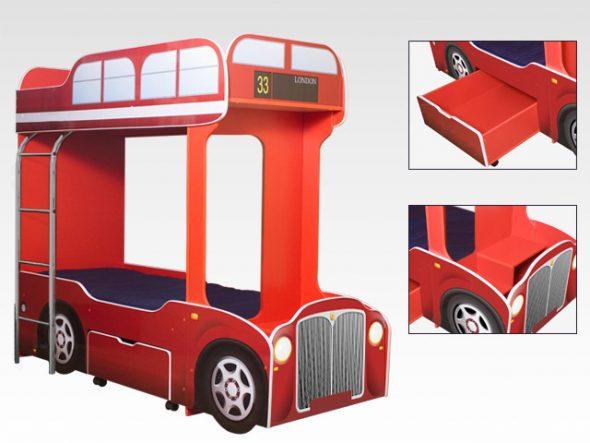 Двухъярусная кровать-автобус CityBus