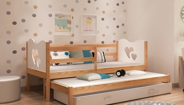кровать с нижним ярусом