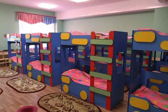 Двухъярусные кроватки для детского сада