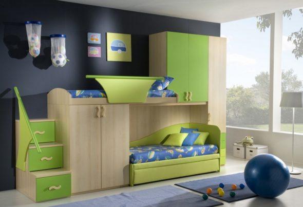 Фото дизайна комнаты для двух мальчиков