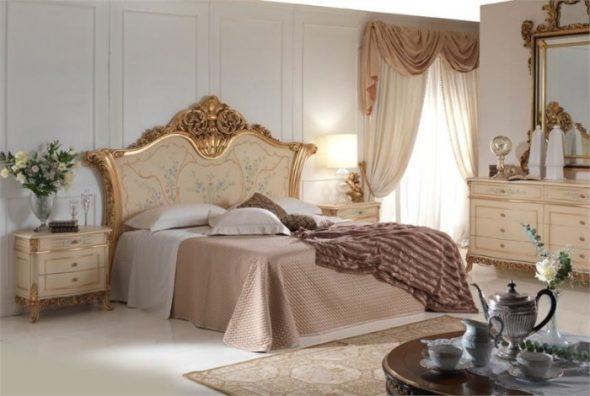 Интерьеры спальни в классическом стиле