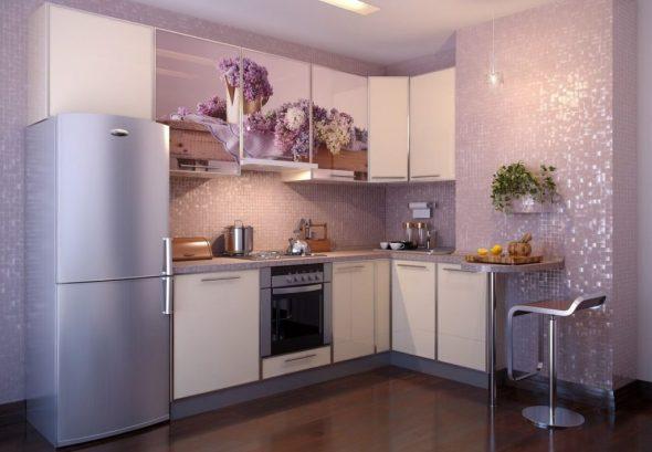 эстетичная угловая кухня