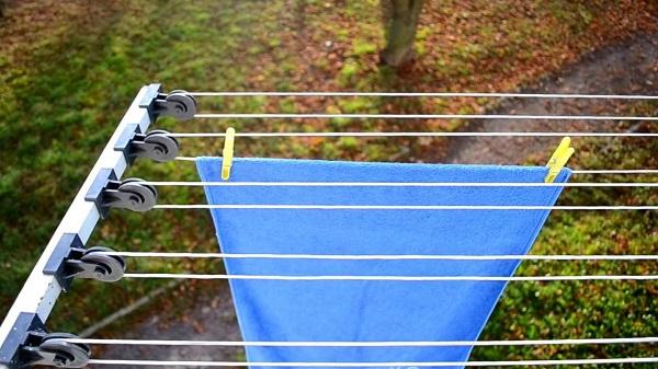 как сушить белье на улице