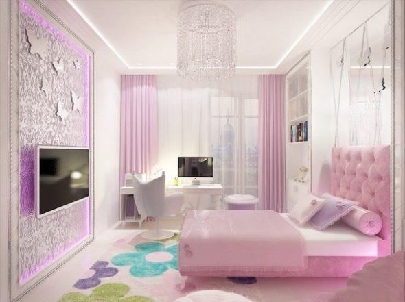 Комната для принцессы школьницы