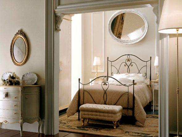 Кованая мебель в интерьере разных комнат