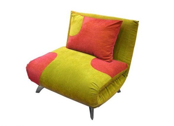 Кресло-кровать без подлокотников разноцветное
