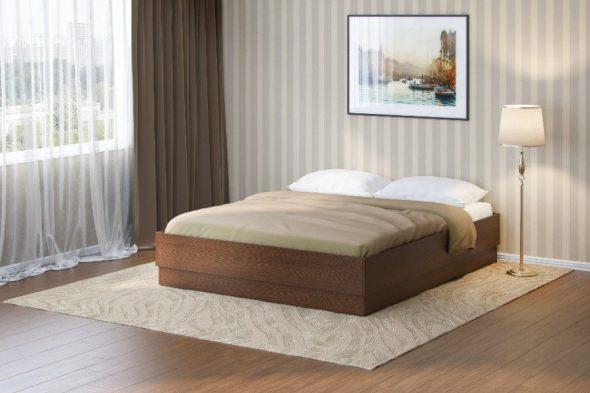 Кровать без изголовья с п м итальянский орех
