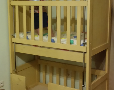 Кровать для погодок и близнецов с высокими бортиками