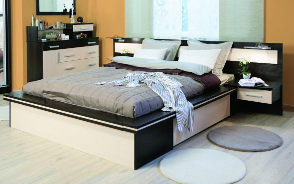 Кровать двуспальная Парнас