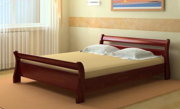 Кровати двуспальные из массива натурального дерева
