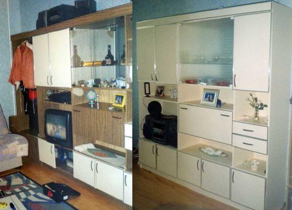 Обновление старой мебельной стенки