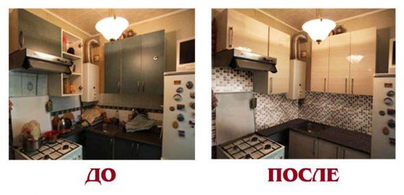 Обновляем кухонный гарнитур своими руками, до и после