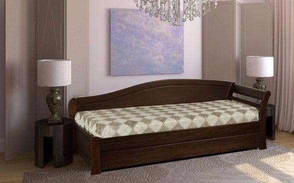 Односпальная кровать из массива дерева фото