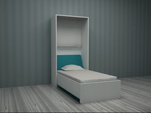 Подъемная кровать без антресоли