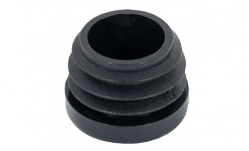 Подпятник мебельный для круглой трубы пластик черный
