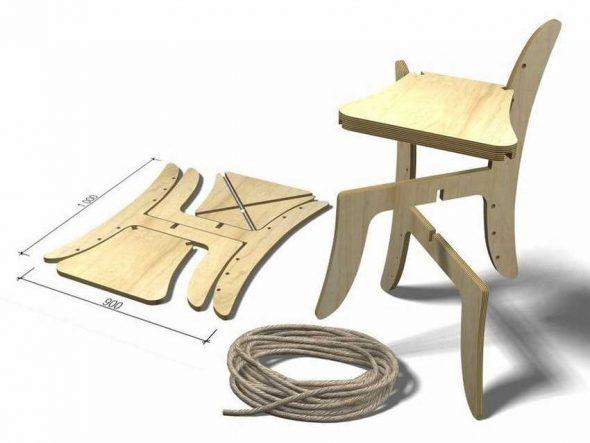 Раскладной стул своими руками из фанеры