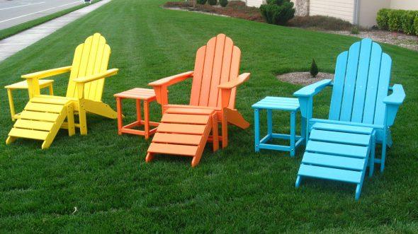 Садовая цветная мебель своими руками
