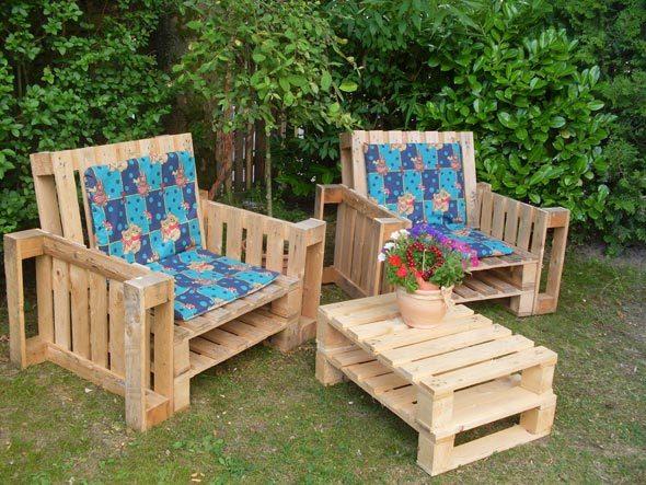 Самодельная садовая мебель