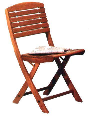 Складной стул из дерева