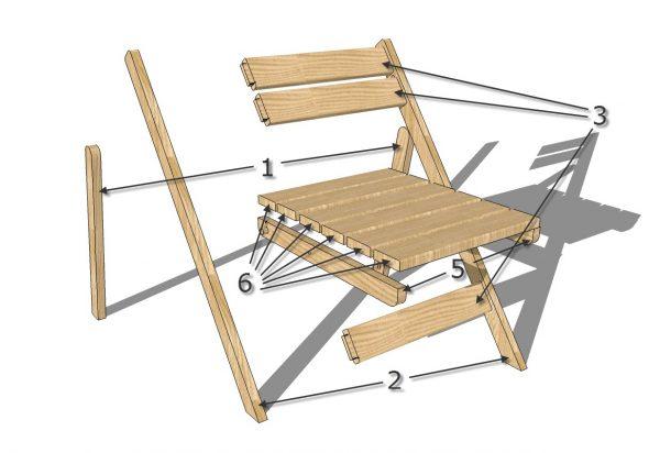 Складной стул со спинкой своими руками