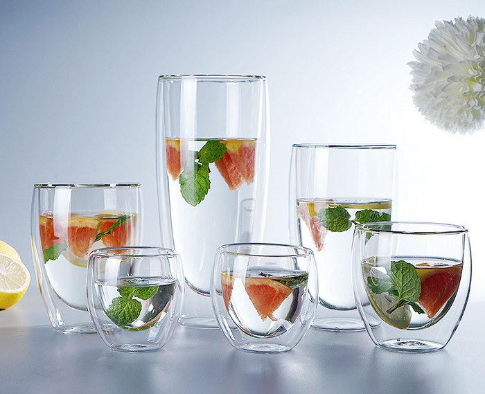 стаканы с двойными стенками для напитков