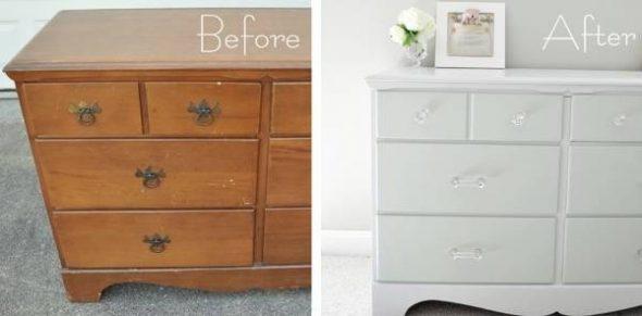 Старая мебель до и после реставрации комода