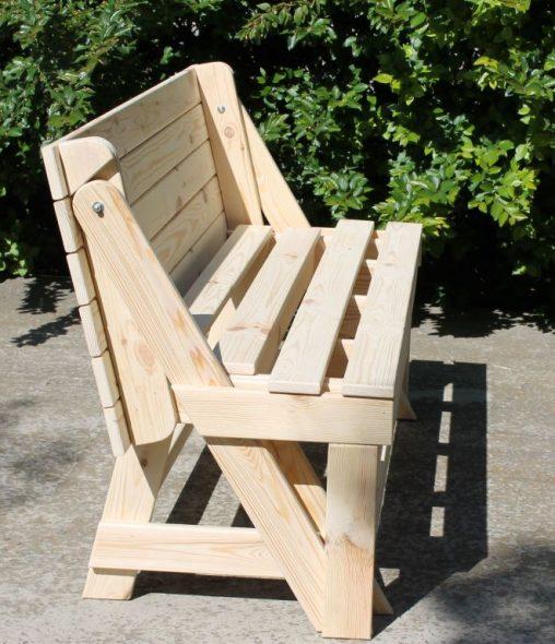 Стол-скамейка трансформер