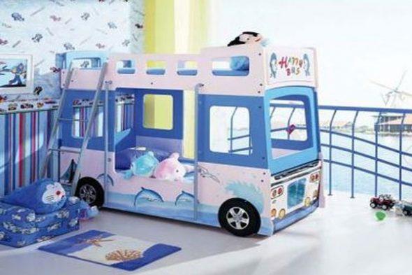 Тематическая двухъярусная кровать - автобус