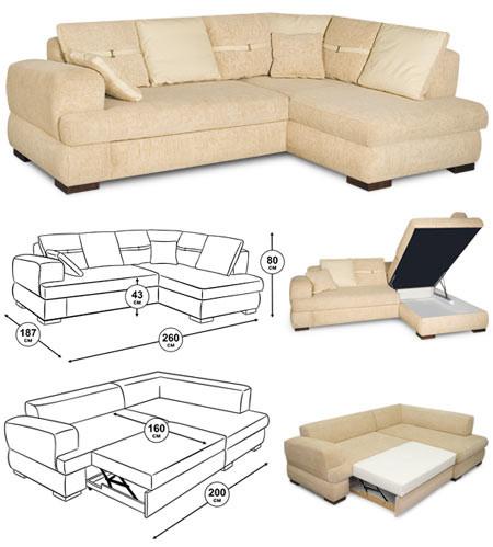 Угловой диван предназначается для отдыха